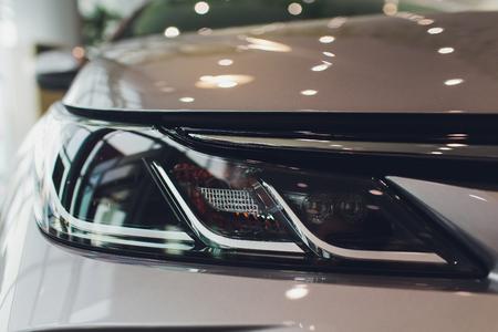 Close Up of a New Car Headlight. Reklamní fotografie