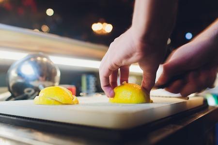 Cut lemon peels into strips. Candied Lemon Zest Cooking. Series.