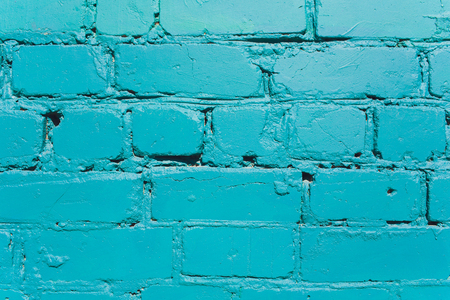 Turquoise brick wall for background or texture Stock Photo