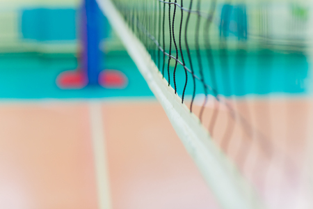 rubber flooring in the gym Empty professional volleyball court. 写真素材