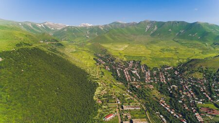 Goris town Syunik Region, Armenia. View from the hill. Imagens