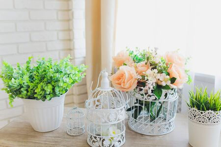 Plastic Floral Bouquet of Different Flowers artificial.