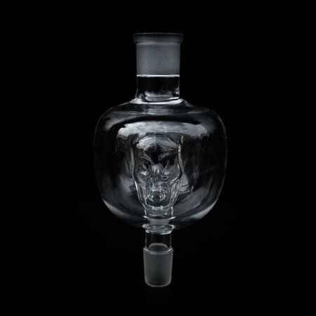 part of the hookah, modern design, on a black background. Standard-Bild - 131911211