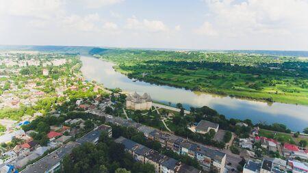Aerial view of medieval fort in Soroca, Republic of Moldova. Stok Fotoğraf