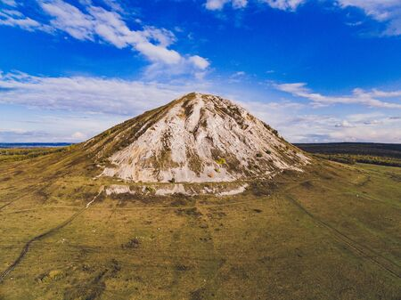 Mount Shihan Toratau near the city of Ishimbai. Symbol of the city of Ishimbai. Bashkortostan. Russia.
