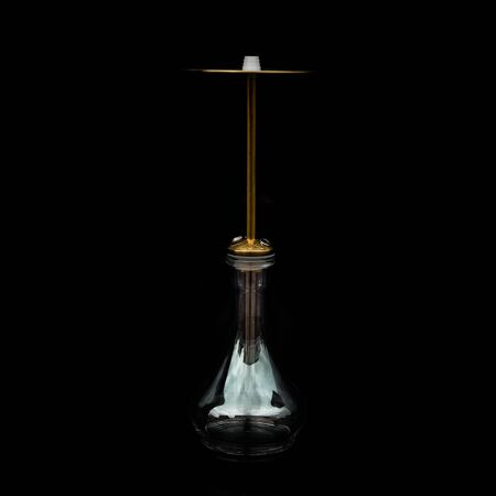 part of the hookah, modern design, on a black background.