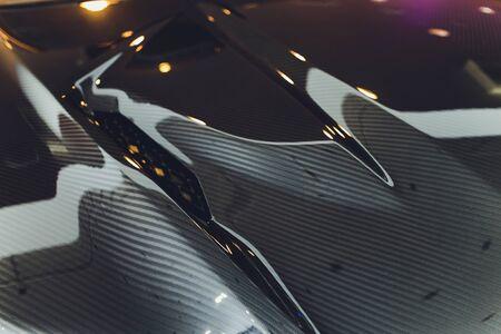 modern car design. close-up. bending lines avto