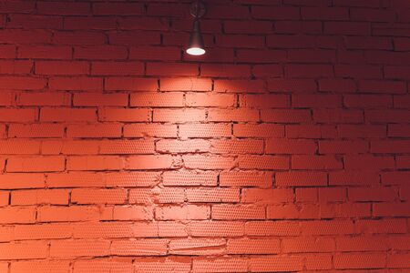 brick wall with light for abstract background
