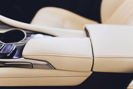 Car interior luxury service. Car interior details.
