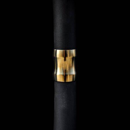 modern design hookah on dark background, closeup