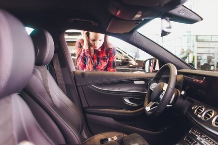 Woman forgot her key inside of her car.
