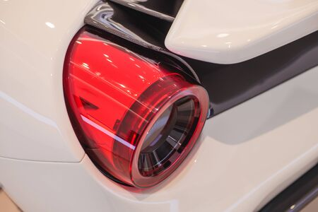 Close-up view of sports car rear light.