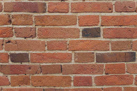red brick wall texture grunge background with vignetted corners, may use to interior design. Imagens