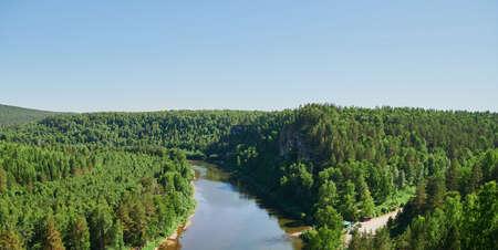 Republic of Bashkortostan, rivers, summer Idrisovskaya cave.
