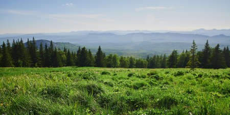 Russia Bashkortostan. The second peak of the Southern Urals is a large mountain Iremel, a view from the mountain of the suktash.