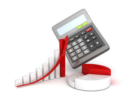 office calculator and business successful finance grow charts photo