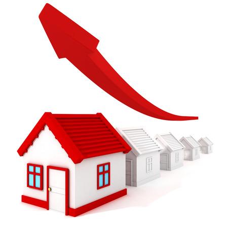 부동산 가격 그래프는 화살표를 성장 스톡 콘텐츠 - 27942581