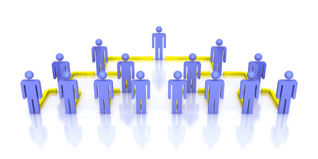 Corporate hierarchy business network 3d people. business concept leadership teamwork illustration illustration