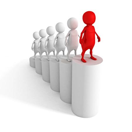 Career business people. Steps to success ladder. 3d render illustration illustration