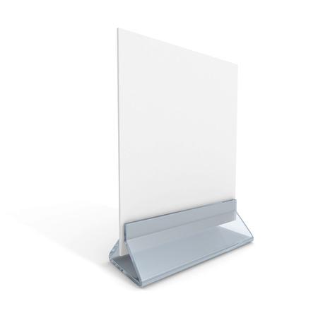 blank information desk stand on white background. 3d render illustration illustration