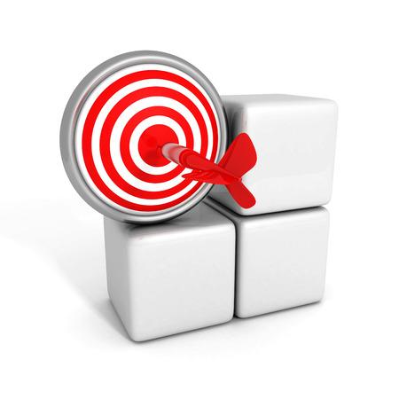 3d red target sign with dart arrow. success concept 3d render illustration illustration