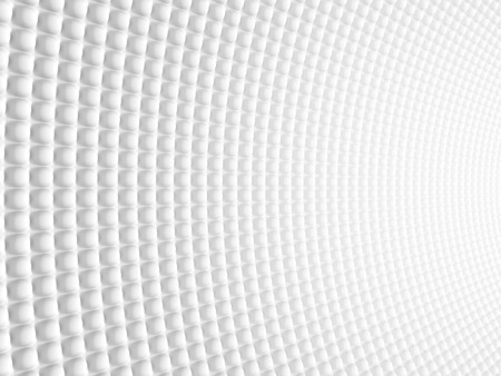 spheric: Abstract Spheric Geometric Curved White Background. Modern Futuristic Design. 3d Render Illustration Stock Photo