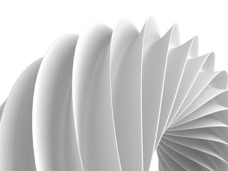 白の抽象的な幾何学的図形の背景。3 d レンダリング図 写真素材
