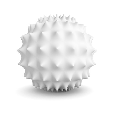 shaddow: Abstract White Geometric Sphere Object With Shaddow. 3d Render Illustration
