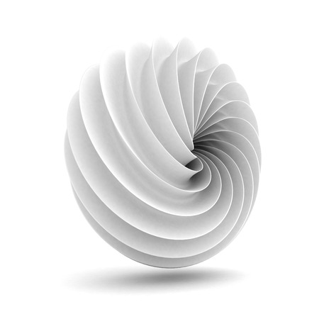 Abstract White Geometric Clean Figure Background. 3d render Illustration