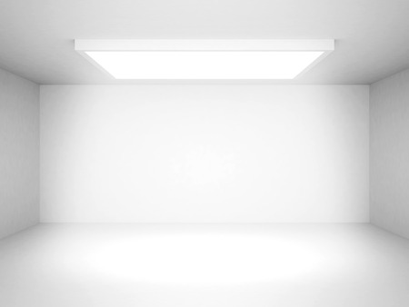 Abstract White Futuristic Interior Background. 3d Render Illustration Stock Photo