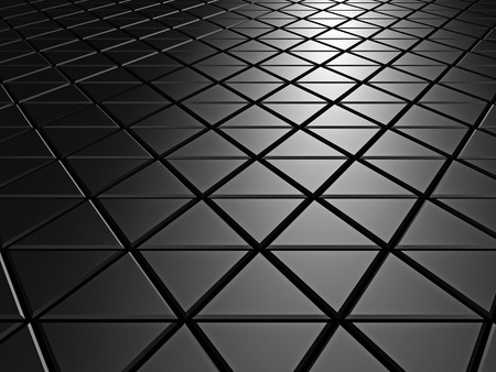 Dark Aluminum Abstract Silver Metallic Background. 3d Render Illustration Stock Photo