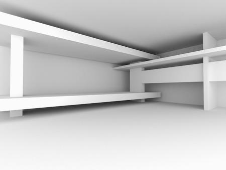 arquitectura abstracta: Resumen Antecedentes Arquitectura Blanca. 3d hacer ilustraci�n Foto de archivo