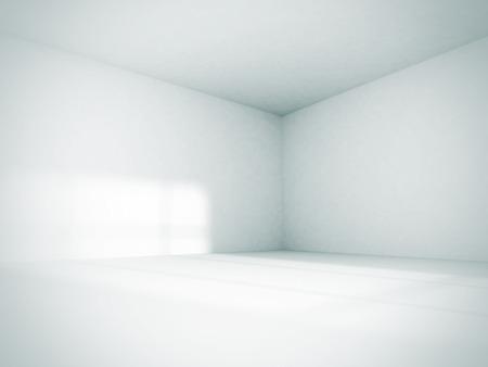 Prázdná místnost Interiér bílém pozadí. 3d vykreslení obrázku