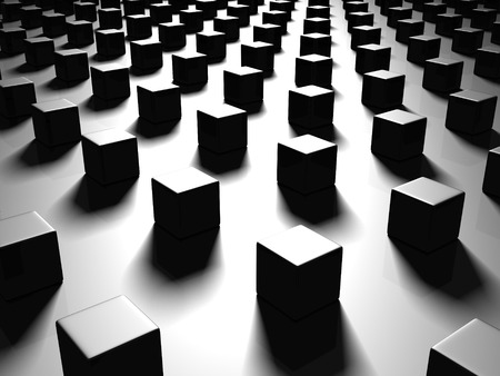 black metallic background: Black Abstract Metallic Cubes Background. 3d Render Illustration