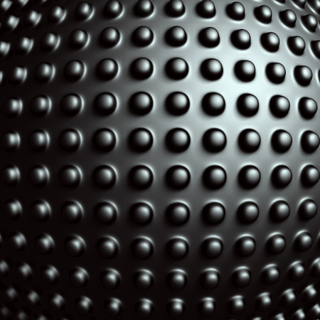 Dark Metallic Sphere Industrial Design Background. 3d Render Illustration illustration