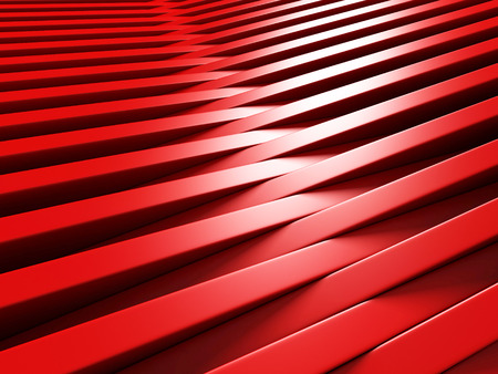 Red Blocks Abstract Geometric Futuristic Background. 3d Render Illustration Stock Photo