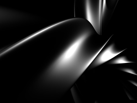 Dark Shiny Alluminium Metallic Background. 3d Render Illustration