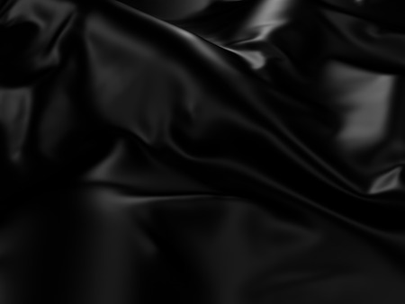 Black Silk Cloth Abstracte Achtergrond. 3d Render Illustratie