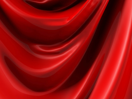 satiny cloth: Red Silk Satin Cloth Folds Abstract Background. 3d Render Illustration Stock Photo
