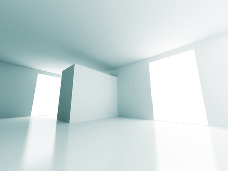 window light: Empty Room Window Light Design Architecture Background. 3d Render Illustration