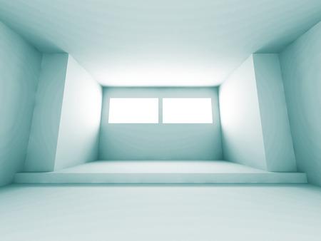 architecture design: Futuristic Architecture Design Interior Room Background. 3d Render Illustration Stock Photo