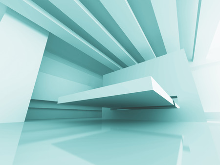 skylight: Abstract Futuristic Design Architecture Background. 3d Render Illustration