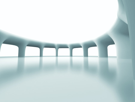 pitched roof: Abstract Futuristic Column Architecture Background. 3d Render Illustration