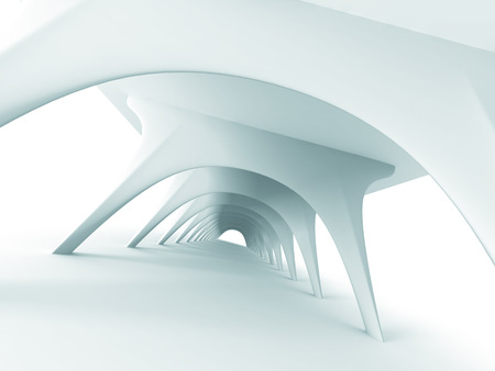 architecture design: Abstract Architecture Futuristic Modern Design Background. 3d Render Illustration Stock Photo