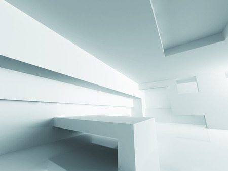 perspective room: Abstract Design Modern Architecture Background. 3d Render Illustration