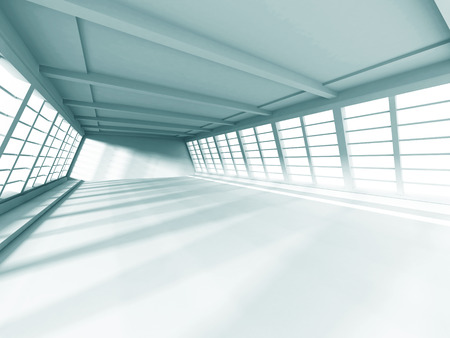 cool background: Modern Interior Architecture White Background. 3d Render Illustration