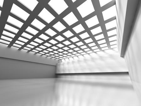 stage door: Abstract Empty Room Design Interior Background. 3d Render Illustration