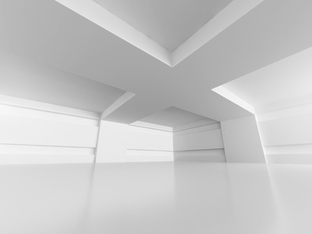 Abstract Architecture Modern Empty Room Interior Background. 3d Render Illustration