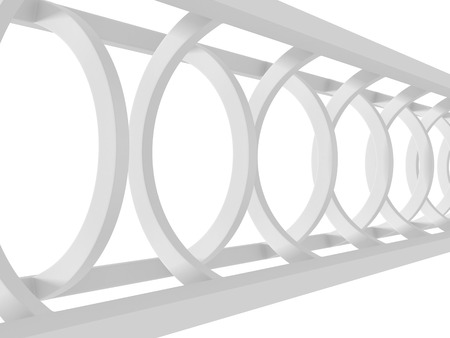 wallpaper doodle: White Abstract Tunnel Architecture Background. 3d Render Illustration