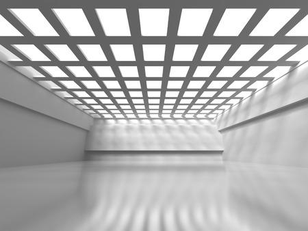 empty interior: Abstract Empty Interior. Modern Architecture Design Background. 3d Render Illustration
